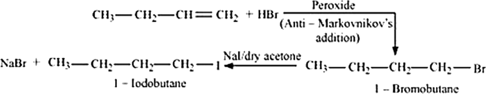 Q 7 iii The Equations for the Preparation of 1-Iodobutane