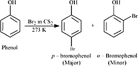 Q 17 ii Bromine in CS 2 with Phenol
