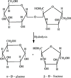 Q 7 i Structure of Sucrose