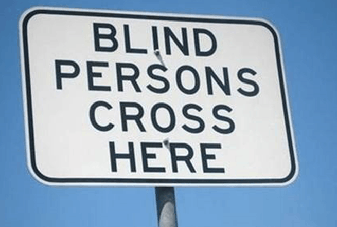 Understanding irony: Blind persons cant read
