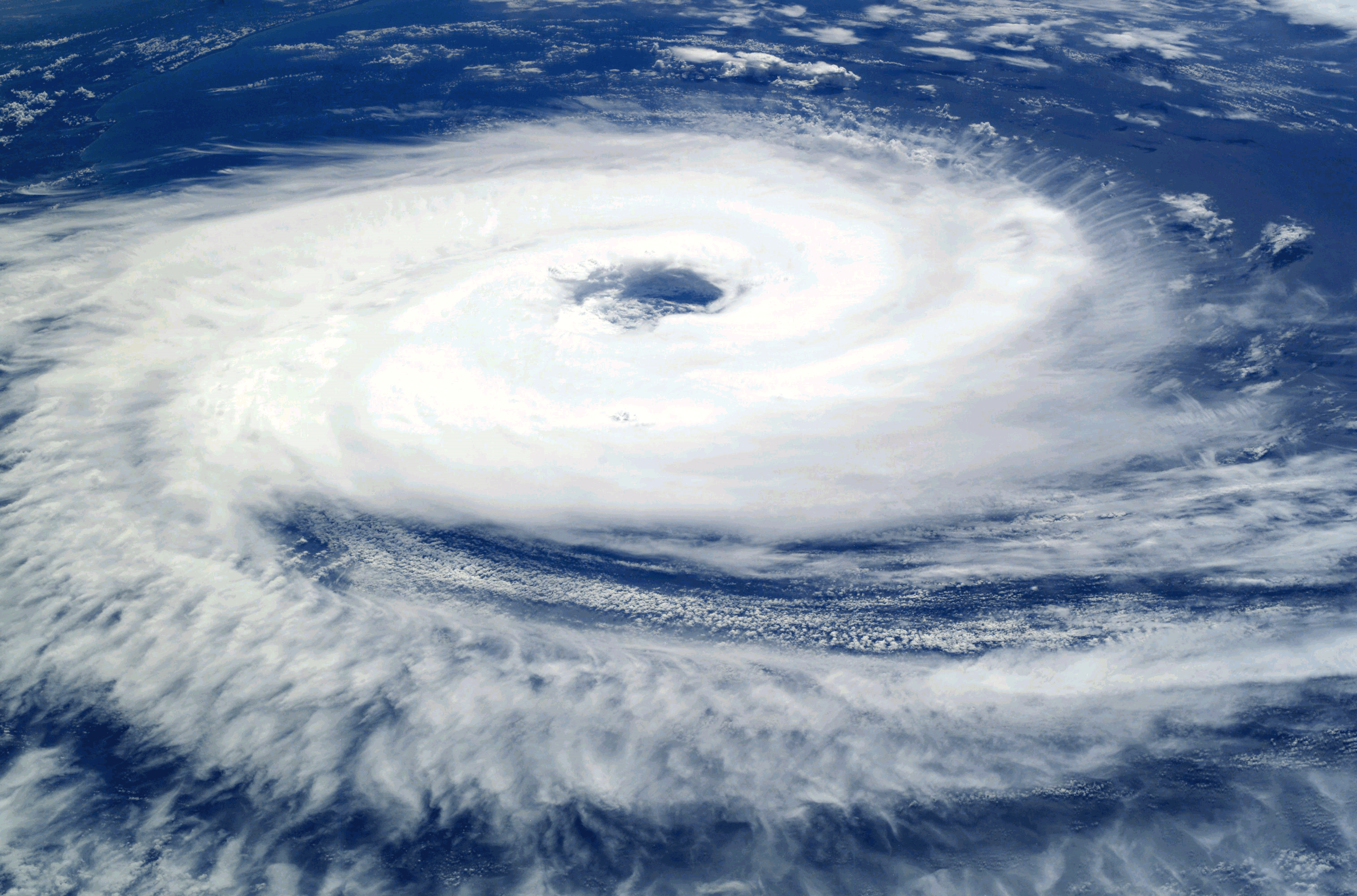 Image of a cyclone from high in the sky