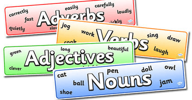 Nouns, verbs, adjectives and nouns
