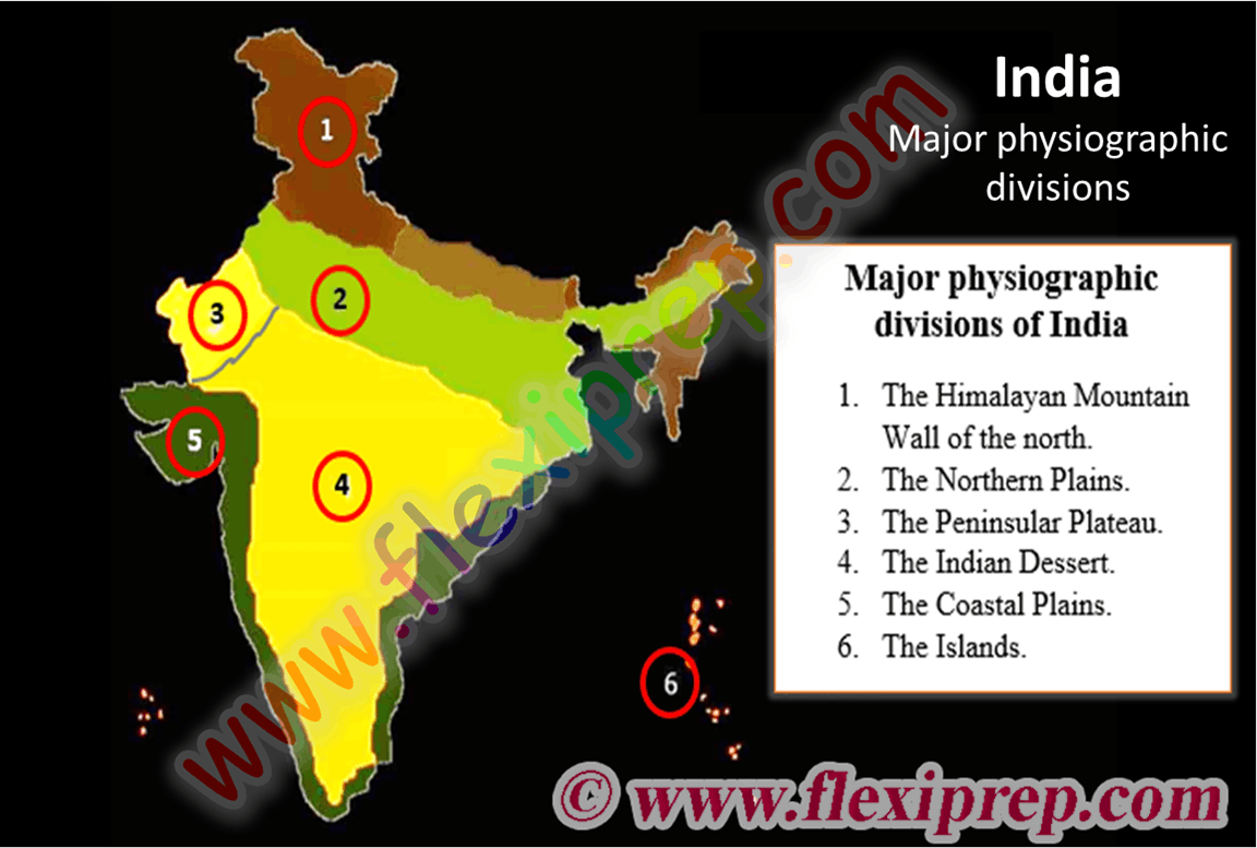 The major physiographic divisions of India