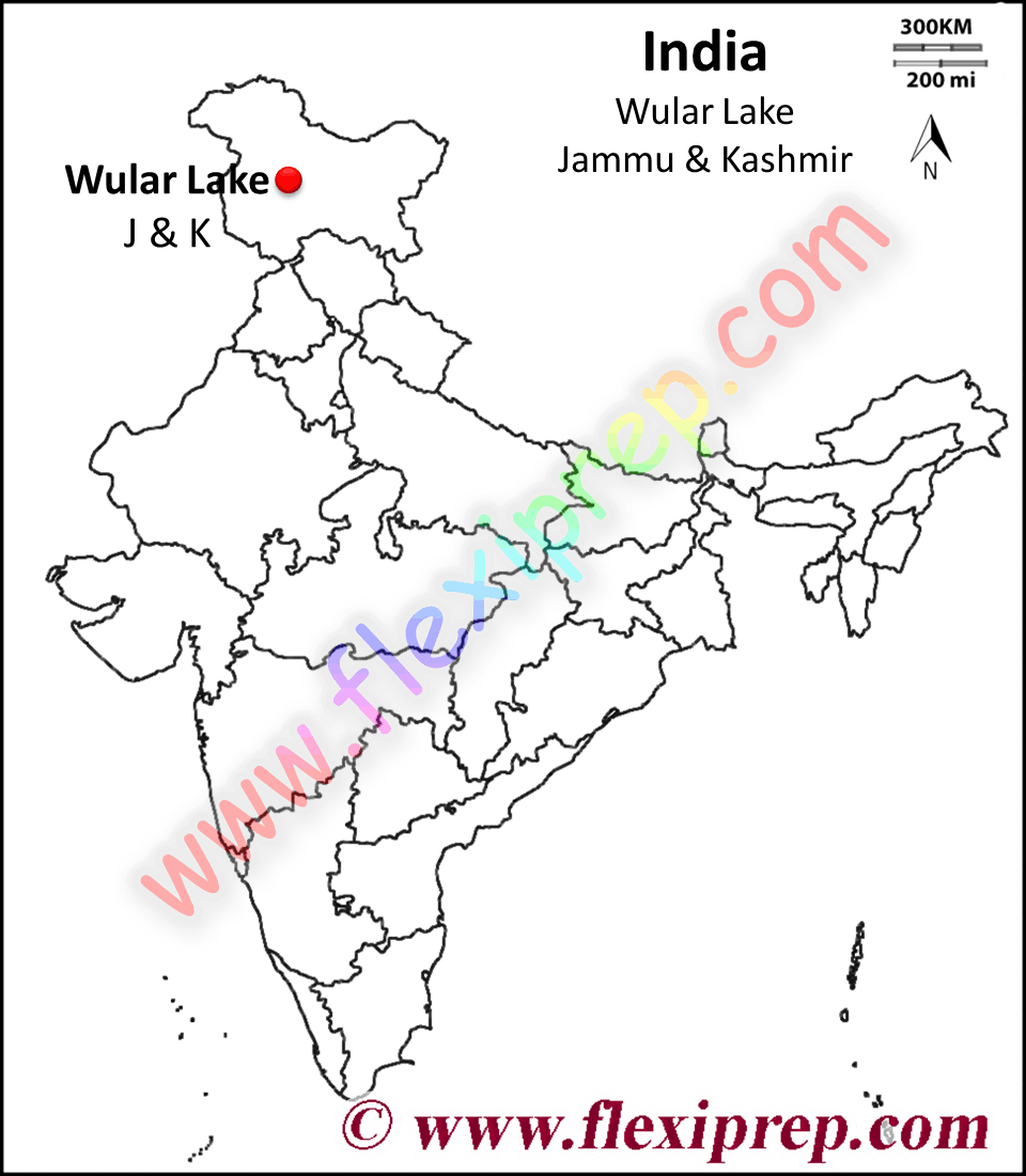 Wular lake at Jammu and Kashmir