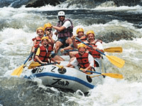 Earlier course of river is turbulant and provides oppertunities for adventure sports