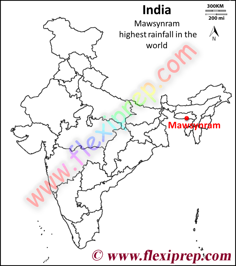 Mawsynram the highest rainfall in the world