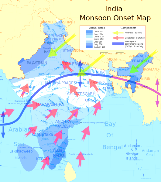 Monsoon arrives in India