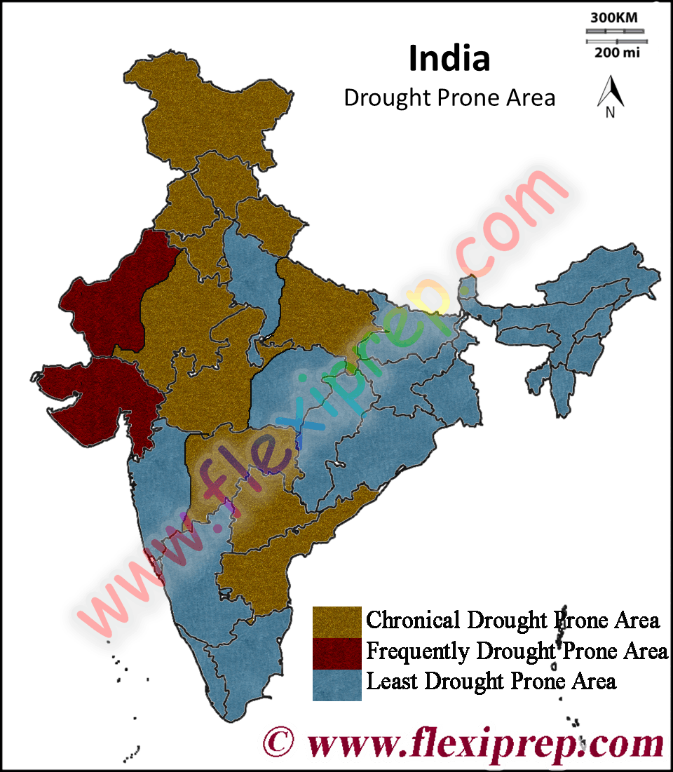drought prone area in India