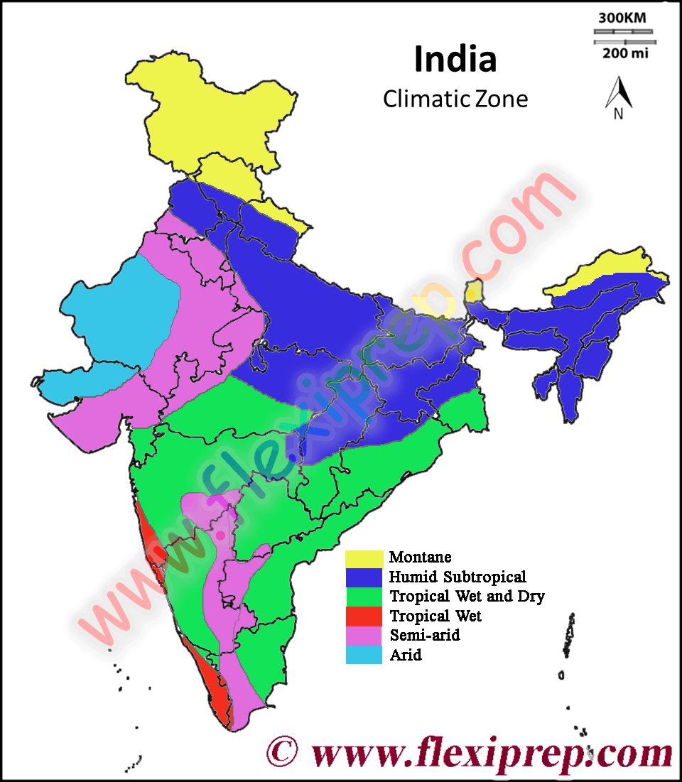 Koppen climatic classification of India
