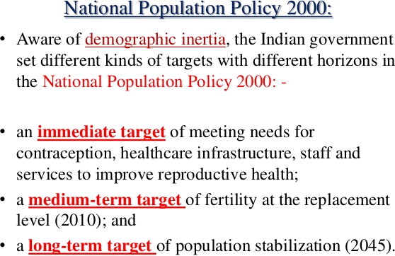 Key targets of NPP 2000