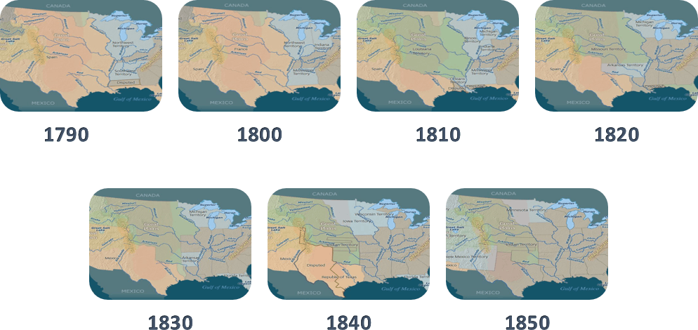westward expansion from 1790 to 1850