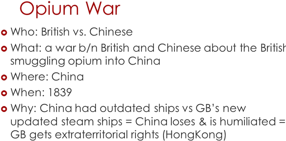 The causes and repurcussions of opium war