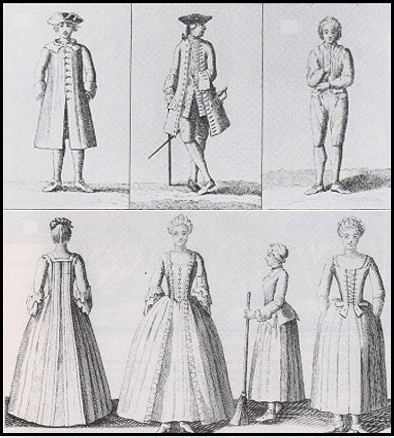 Clothig based on region under the sumptuary laws