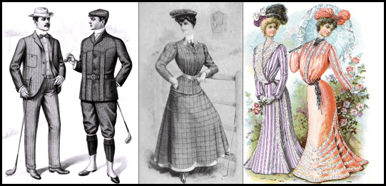 clothing patterns of Men and Women after 18th century