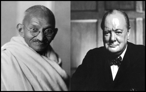 Mahatma Gandhi and Winston Churchill