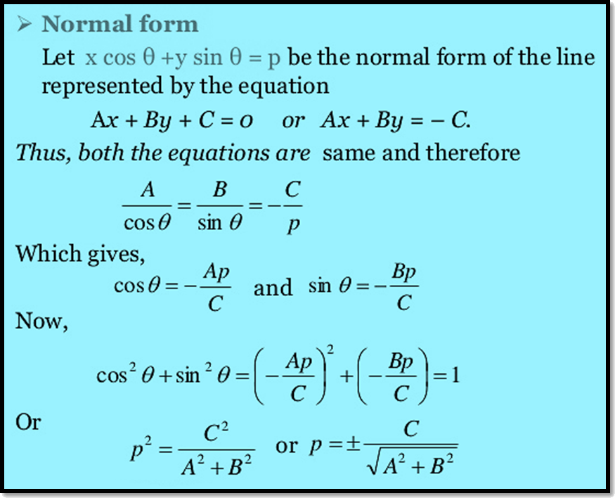 how to find the equation to the normal