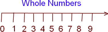 Whole numbers with zero as the samllest whole number