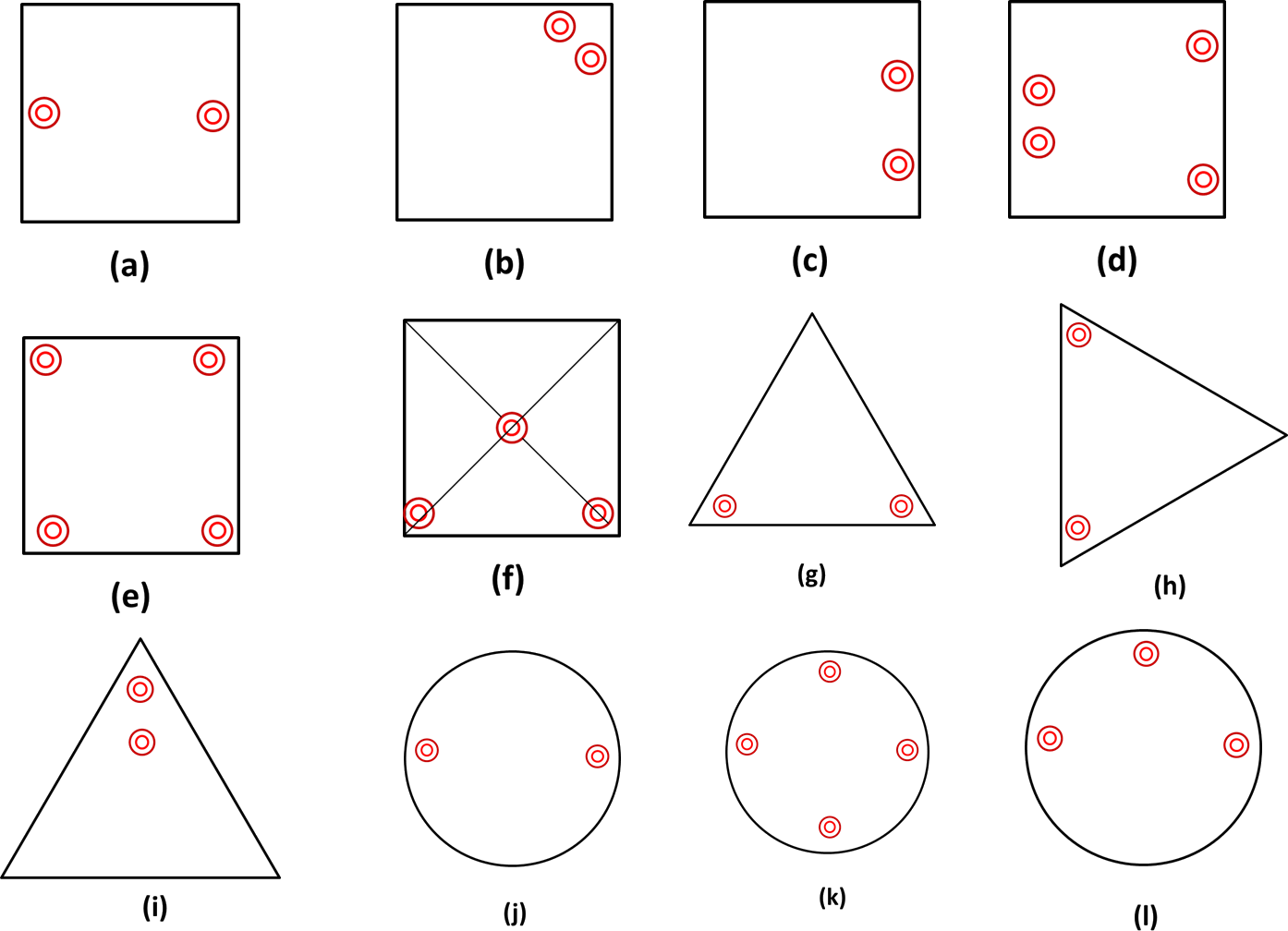 Find the axes of symmetry for each of the following