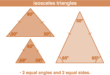 Triangle made with 50 degree and 70 degree angle