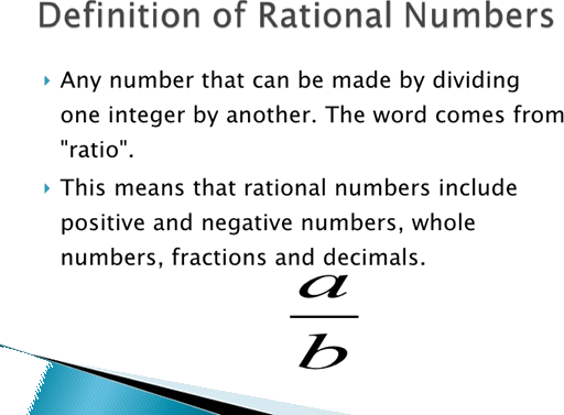 Definition of rational number