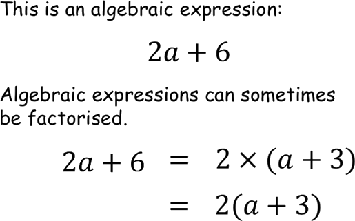 Understanding of algebric expression using factorised