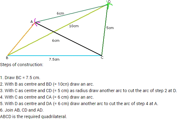 Ncert Class 8 Mathematics Solutions Chapter 4 Practical Geometry. Of Abcd Required Quadrilateral For Practical Geometry. Worksheet. Quadrilaterals Worksheet For Grade 7 At Mspartners.co