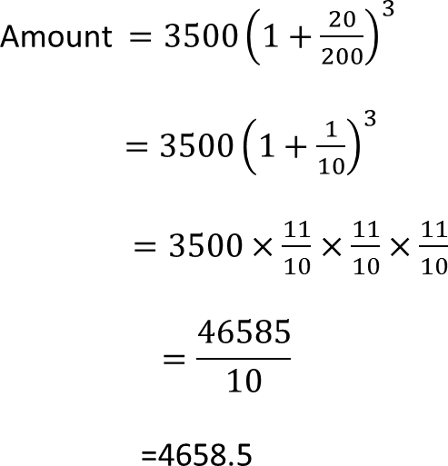 Example of how to find amount