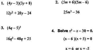 Find the product of given algebraic expressions