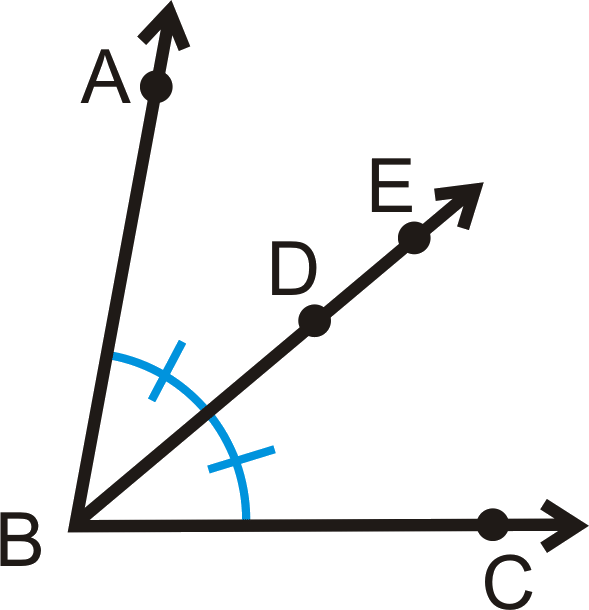 Angle ABC bisected by line segment BE