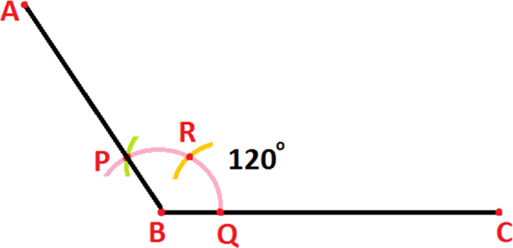 Construction of point angle at 120 degree