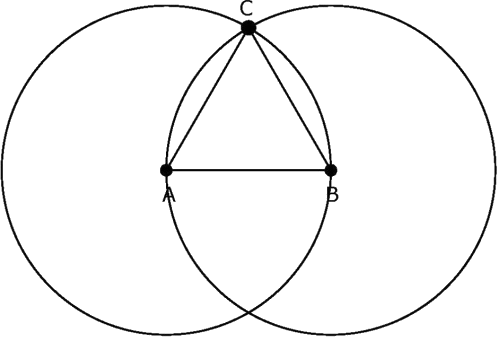Euclid's Geometry of circles, lines, triangles