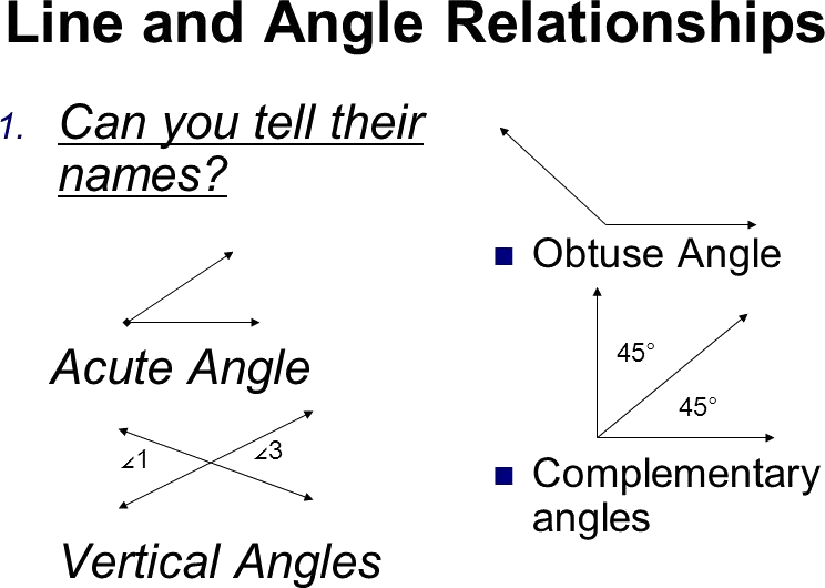 Line and Angle relationships are given