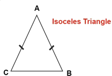 Give isoceles triangle of ABC