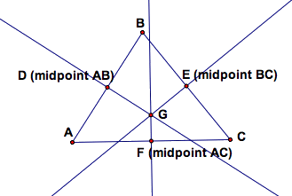 Give perpendicular bisector at triangle ABC ,D is a mid point of AB,E is a mid point of BC and F is mid point of AC