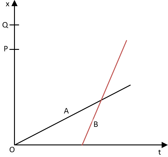 Figure shows the position - time (x-t) graphs