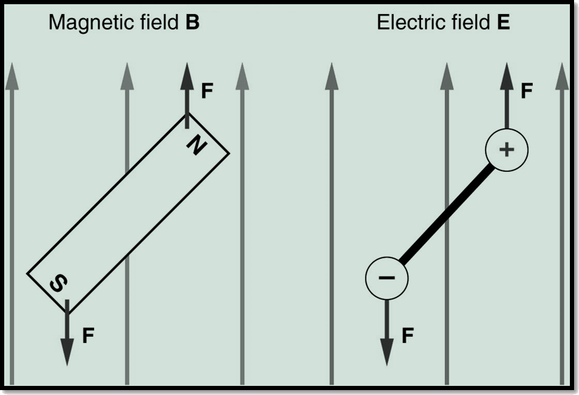 Dipole magnetic field and electric field