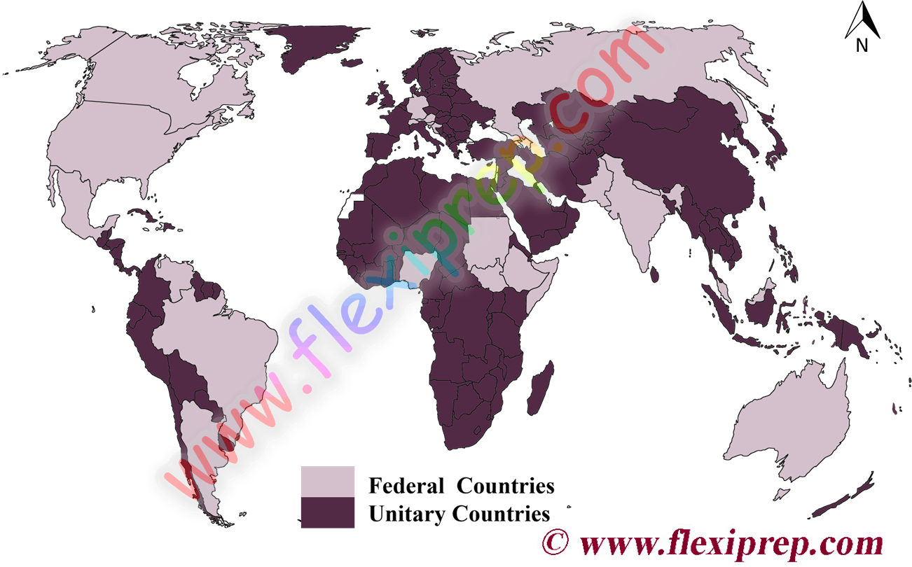 Federal and Unitary countries
