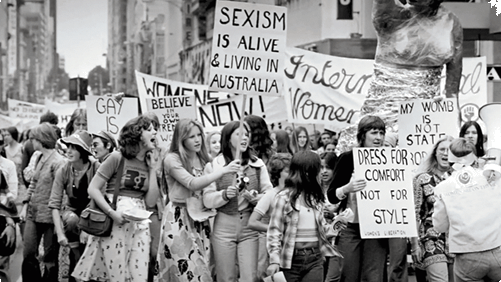 Image of struggle of the women's movement