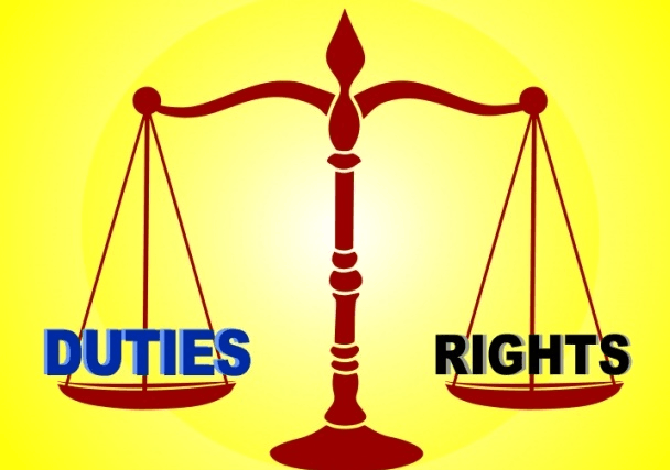 Rights and duties should be in balance
