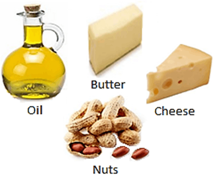 As Showing in Image is a result for butter, cheese, oil, etc