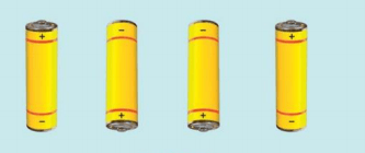 As showing in images is a battery of four cells