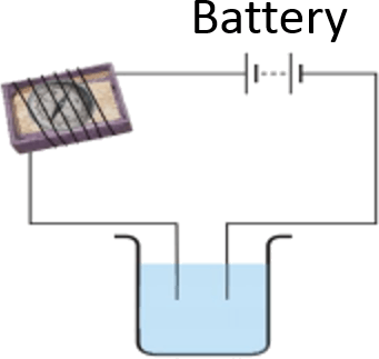 As showing in images is a Electrical circuit for liquids tes …
