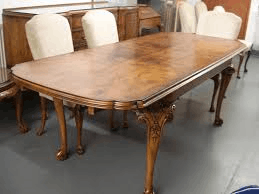 As showing in images is a polished wooden table