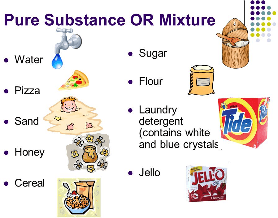 the differences between chemical mixtures and pure substances Learn about the difference between these mixtures and the difference between heterogeneous and homogeneous mixtures is the get examples of pure substances.