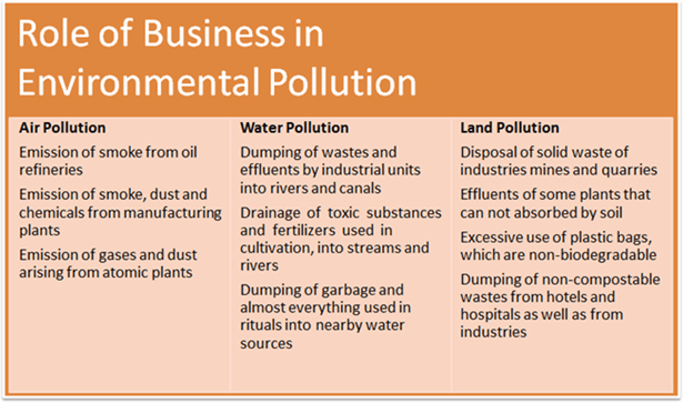Business in Environmental Pollution