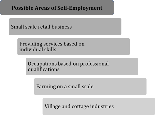 Image of Possible areas of self employment