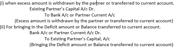 Capital based on the capital of the new partner