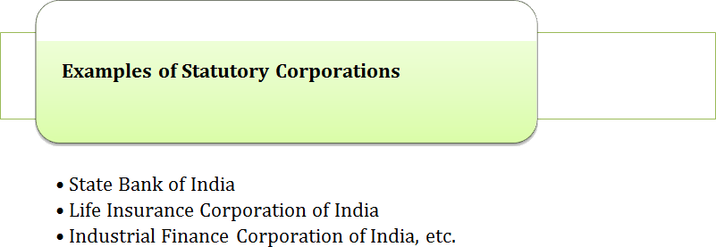 Examples of Statutory Corporations