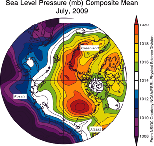 Image of Sea-level Pressure in Millibars