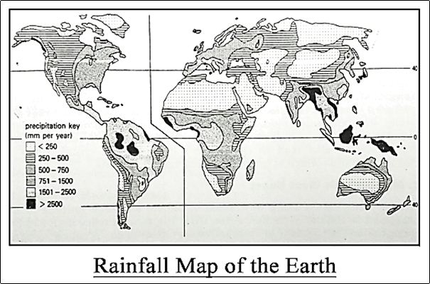 Rainfall Map of the Earth